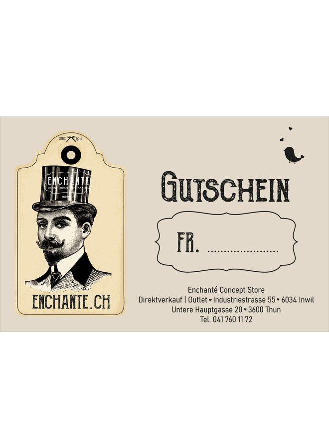 Gutschein - Geschenkgutschein für Herren (50.- bis 200.-)