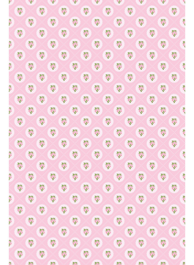 Selbstklebende Tapetenfolie in Textiloptik - Frühlings Rose