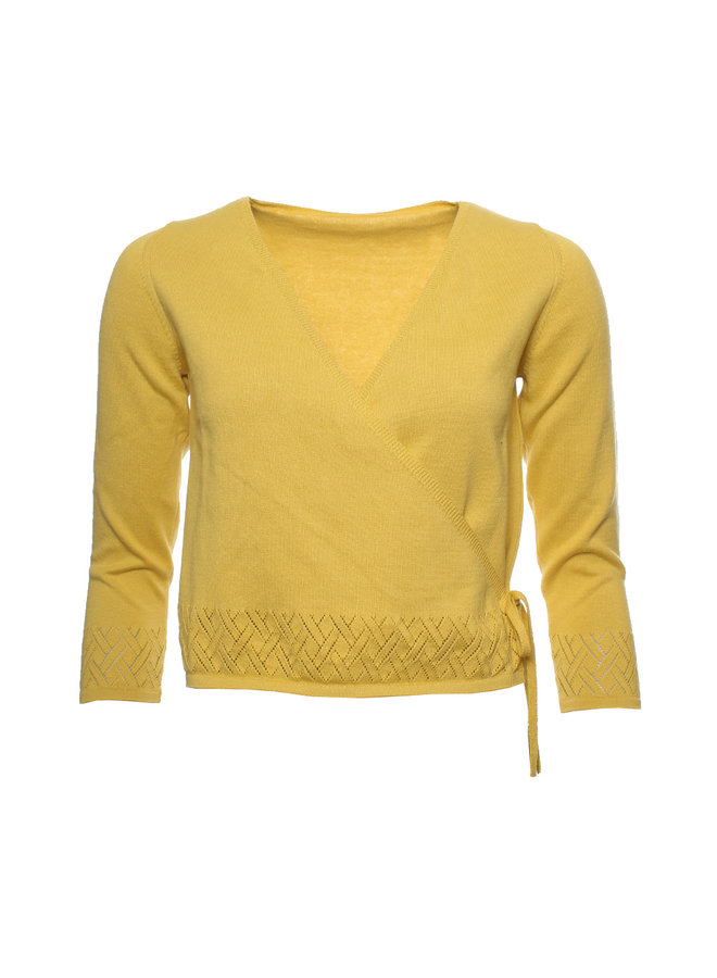 Strickjacke - Ines bamboo-yellow