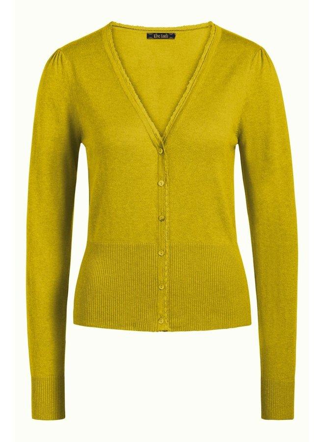 Cardigan | Cardi V Cocoon - Spring Yellow