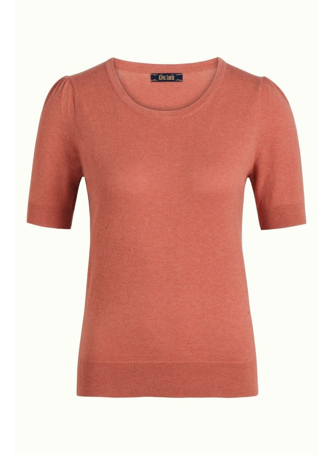 Kurzarm Pullover | Agnes Top Cocoon - Dusty Rose