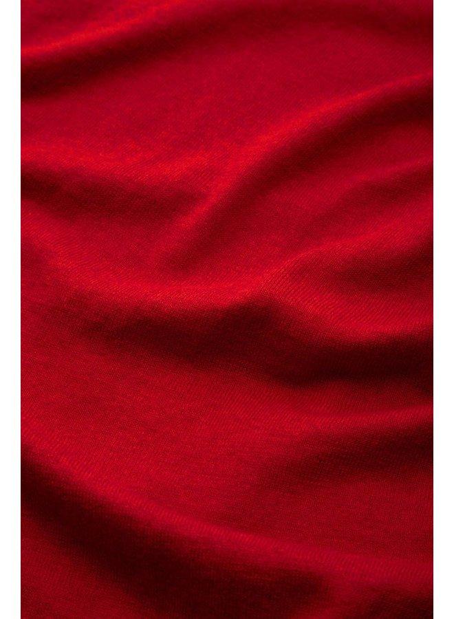 Cardigan | Cardi V Cocoon -  Icon Red