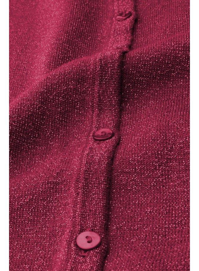 Cardigan   Cardi Roundneck Organic Lapis - Purple