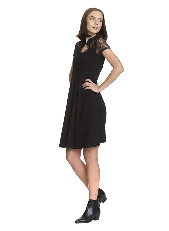Spitzenkleid | Summer Lace Dress - black
