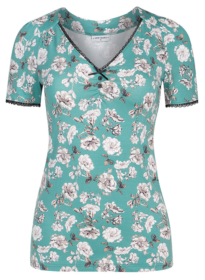 Shirt | Green Bouquet Shirt - green