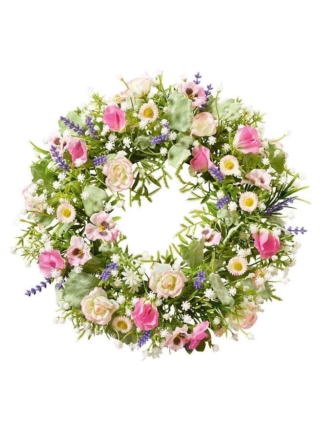 "Türkranz ""Roses de Lille"" - Kunstblumen Ø30cm"