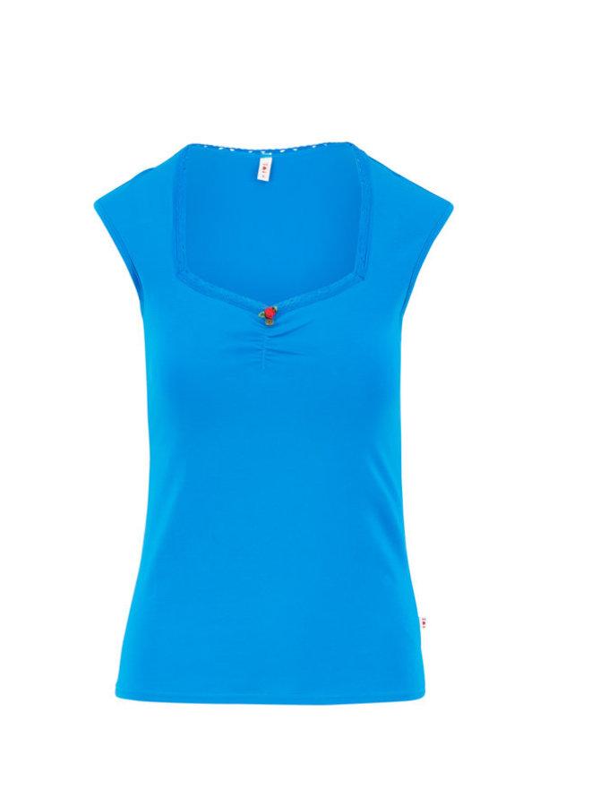 Basic Top | logo top romance uni - simply blue
