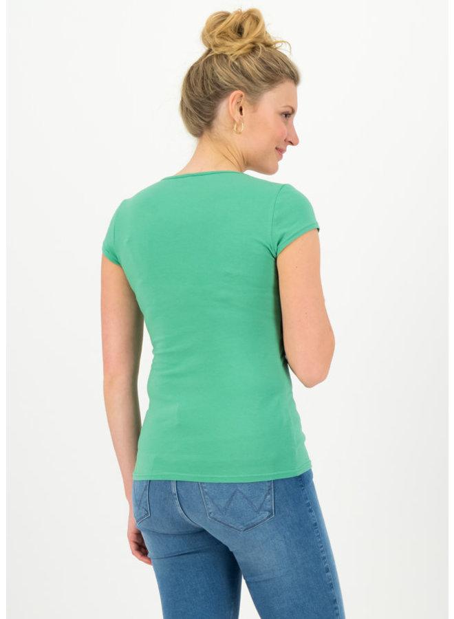 Basic Top | logo shortsleeve feminine - simply green