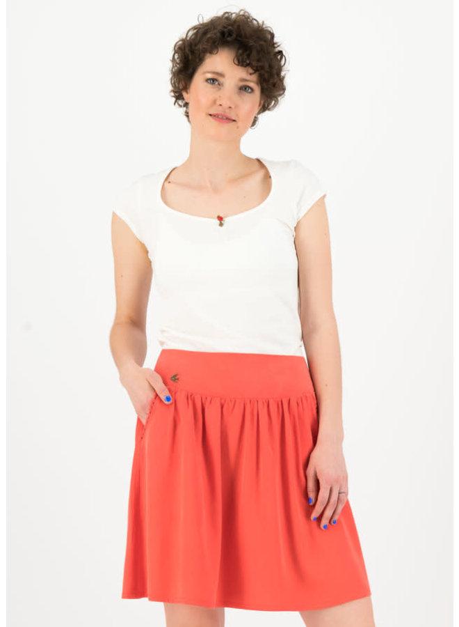 Rock | logo woven skirt - dusty red