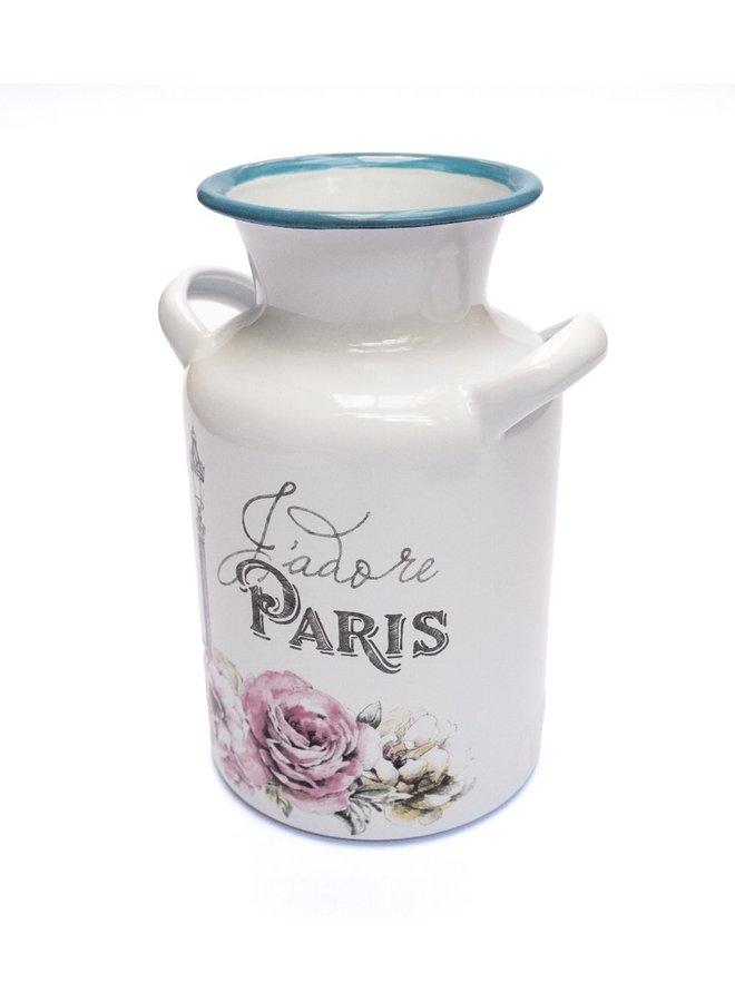 """Blumenvase """"Paris"""" - 20x12cm"""