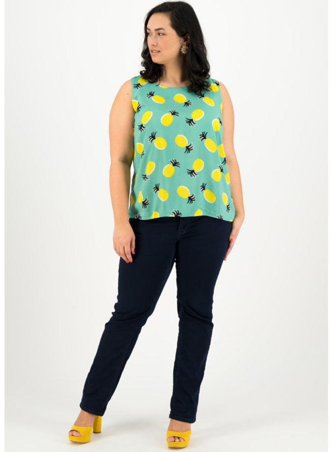 Blusen-Top | rückenfein top - pineapple party