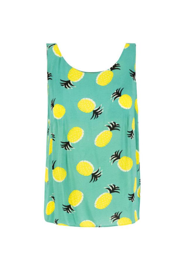 Blusen-Top   rückenfein top - pineapple party