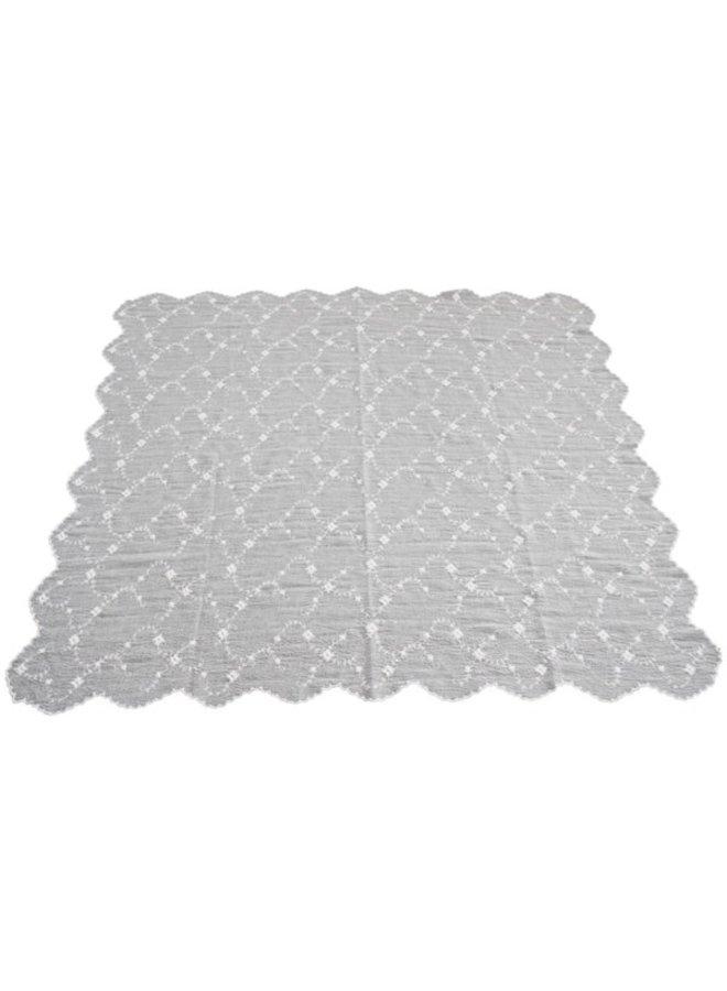 Tischdecke mit Spitze - 220x140cm