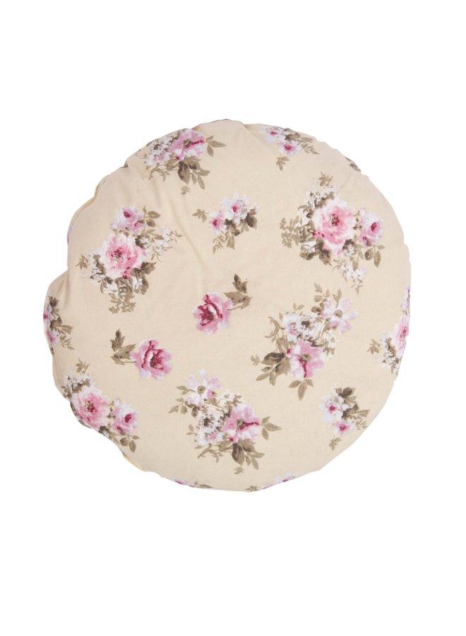 """Kissen """"Belle fleur"""" - Rund 45 cm"""