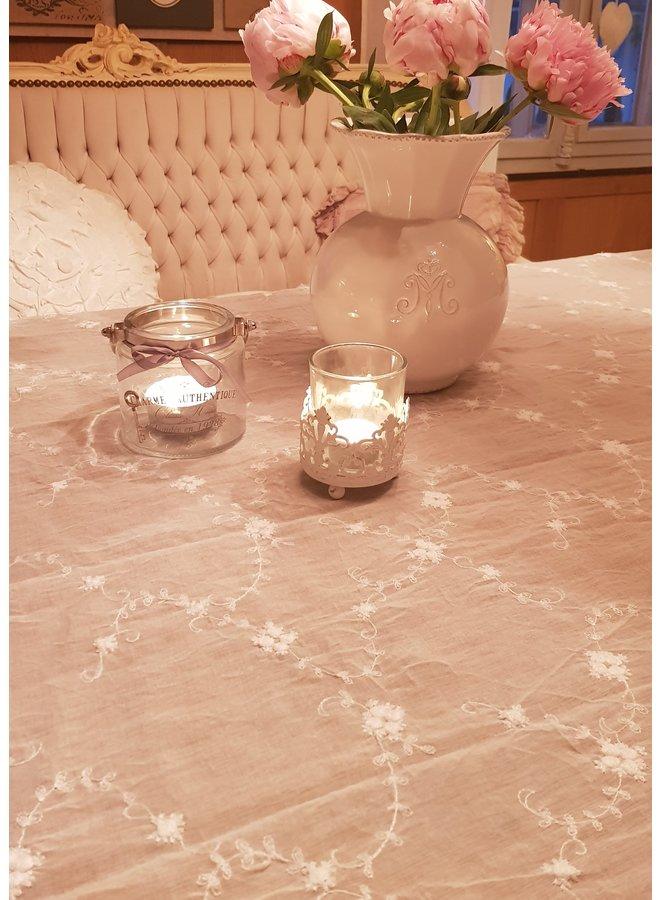Tischdecke mit Spitze Cream - 140x140cm