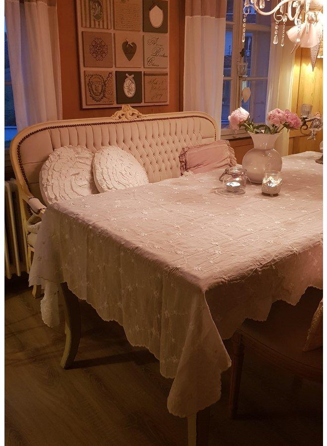 Tischdecke mit Spitze - 140x140cm