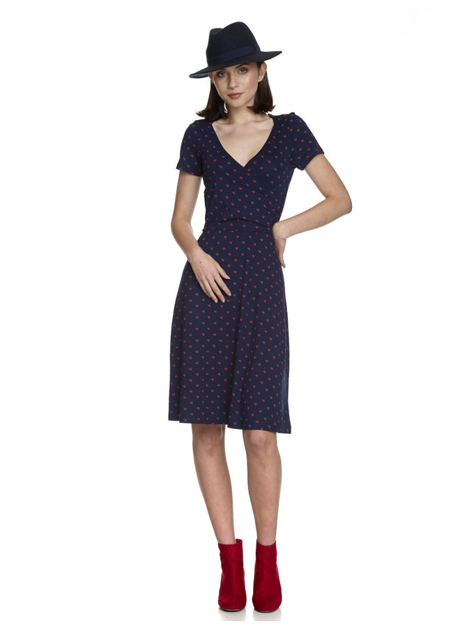 Kleid | Marcher à Paris Dress - blue/allover