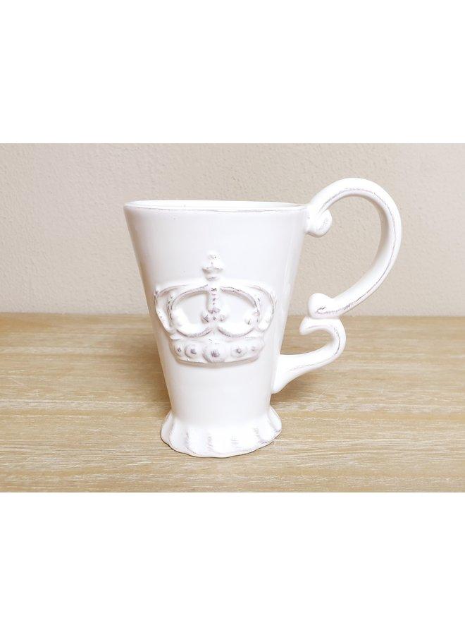Porzellan Tassen (4) im Shabby Chic mit Ständer