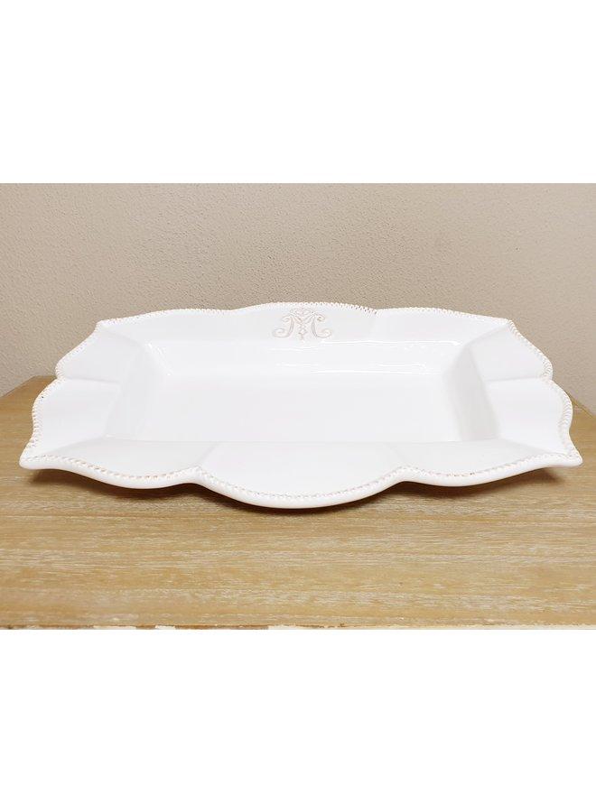 Porzellan Kuchenplatte im Shabby Chic