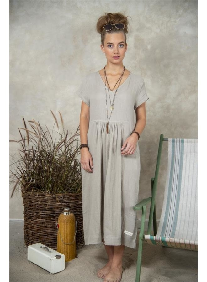 Kleid   Sandra - Long Grey