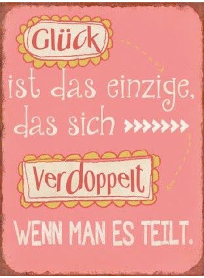 "Blechschild - ""Doppeltes Glück"""