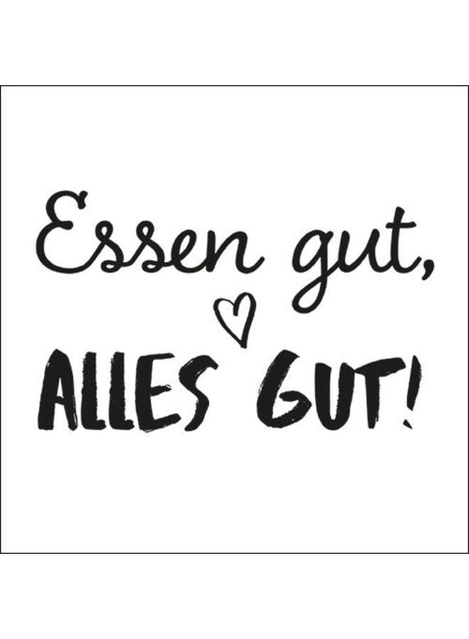 """Servietten """"Essen gut-alles gut"""" - 30x30cm - FSC"""