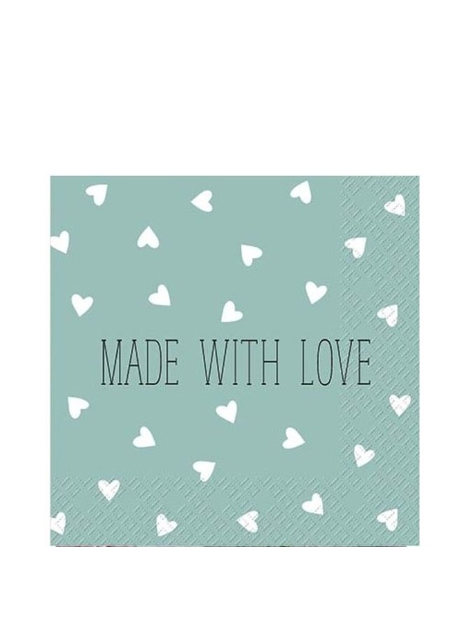 "Cocktailservietten ""Made with Love"" - 25x25cm - FSC"