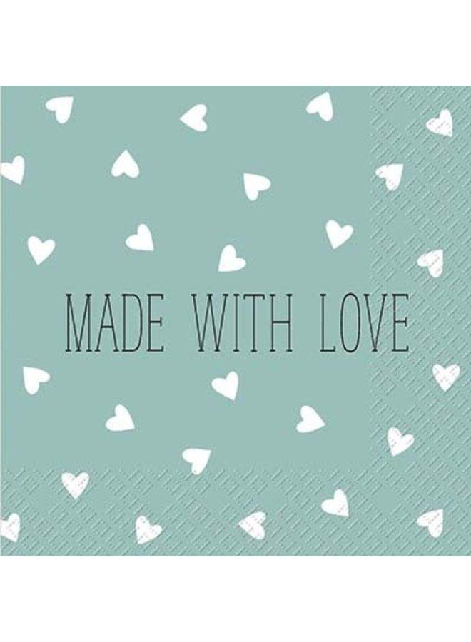 "Servietten ""Made with Love"" - 30x30cm - FSC"