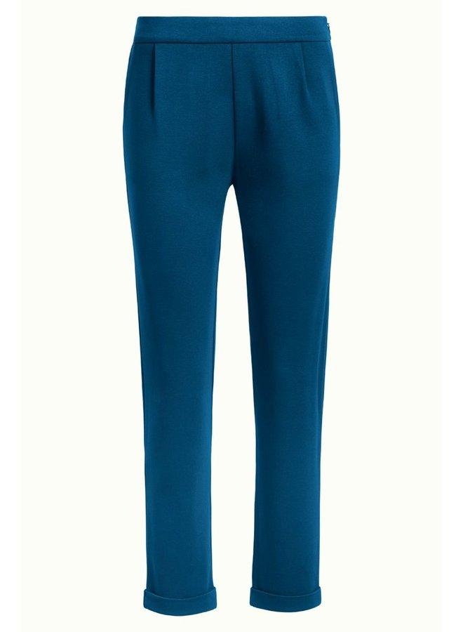 Hosen - Roisin Pants Milano Uni -  Pond Blue