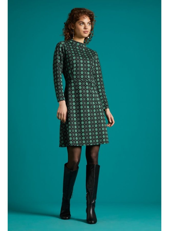 Kleid - Ada Dress Aberdeen - Fir Green
