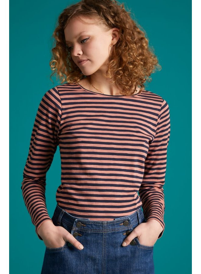 Top - Lou Top Stripe Royale - Dusty Rose