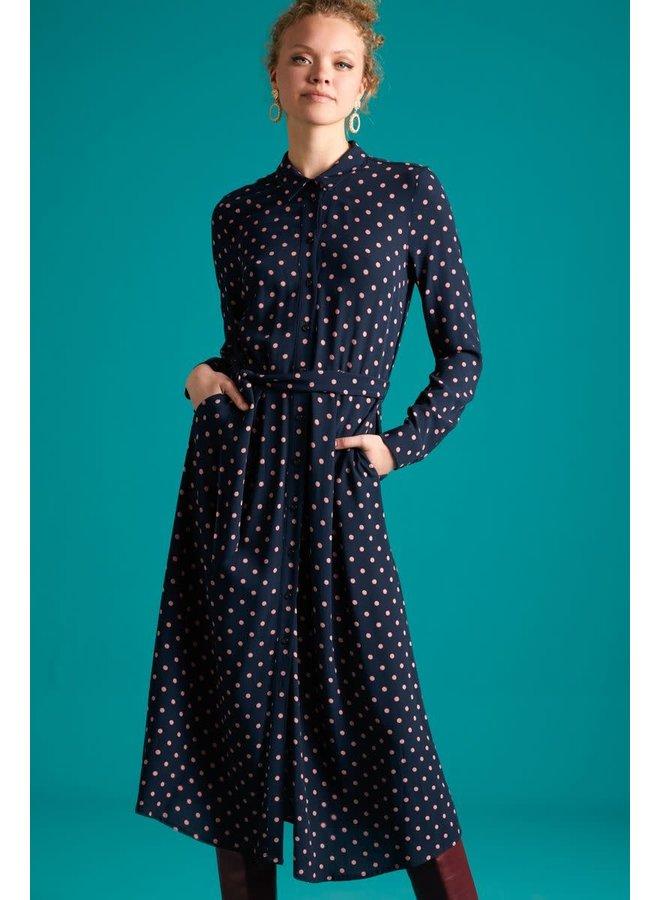 Kleid - Rosie Midi Dress Pablo - Night Blue