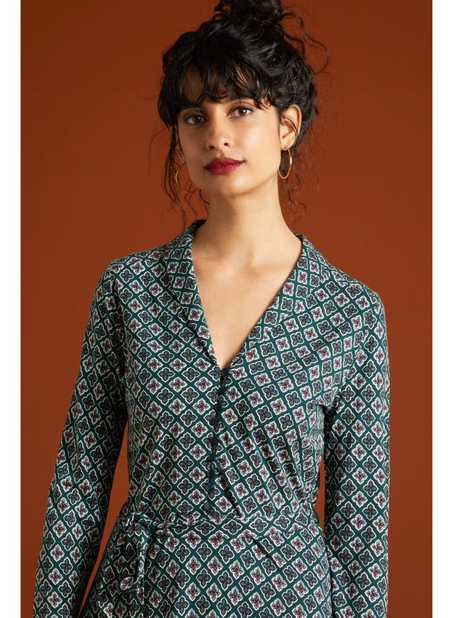Keid - Emmy Dress Giza - Pine Green
