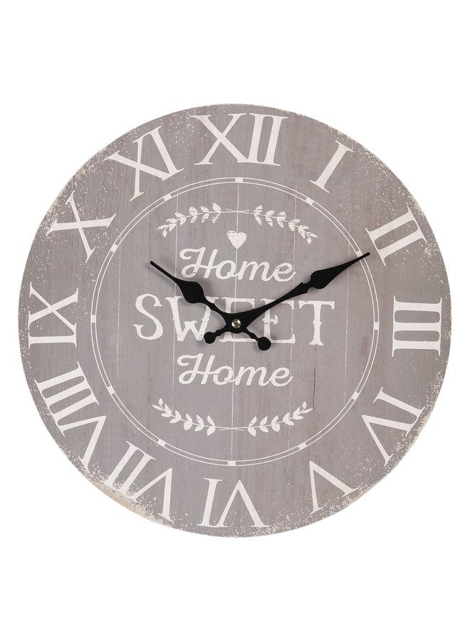 "Wanduhr ""Sweet Home"" - Ø34cm"
