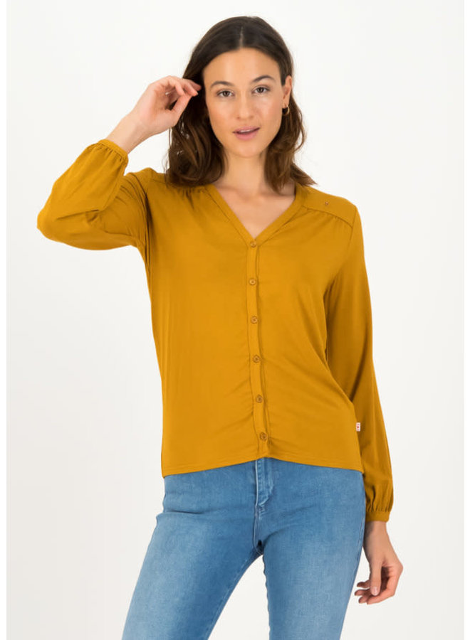 Bluse - logo romance blouse - faded brown