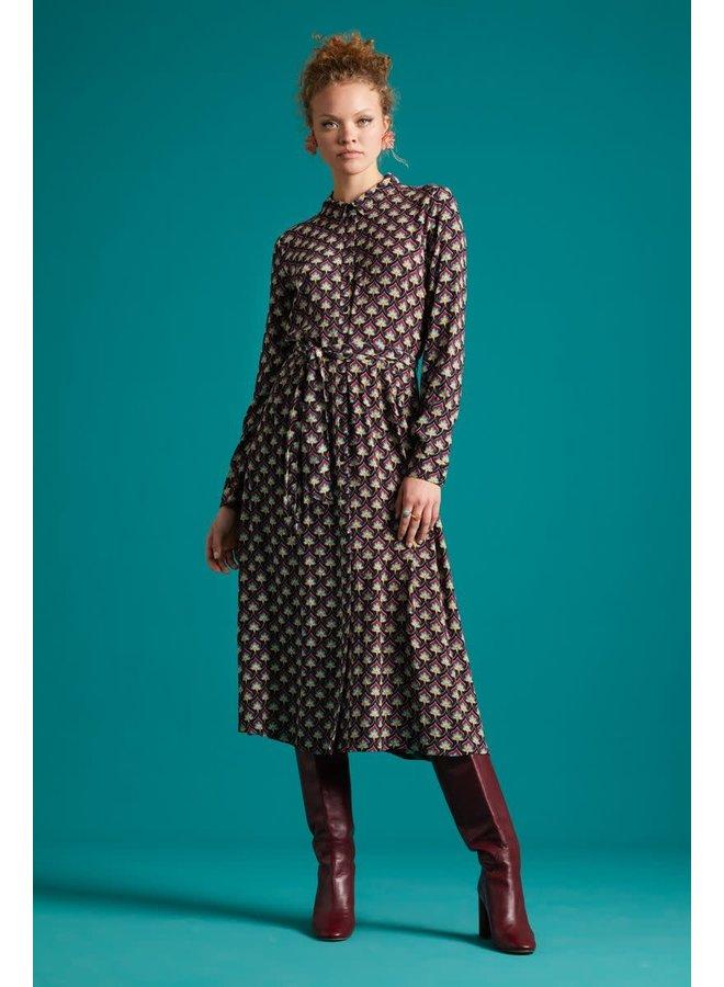 Kleid - Rosie Midi Dress Emperor -  Cherise Red