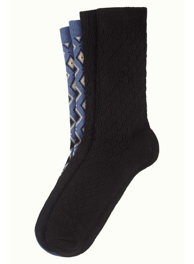 2 Paar Socken - Socks Deuce - Bluestone Blue