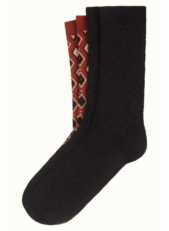 2 Paar Socken - Socks Deuce -  Spicy Brown