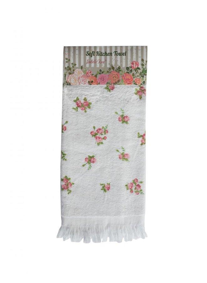 "Gästetuch ""Little Roses"" - 38x65 cm Baumwolle"