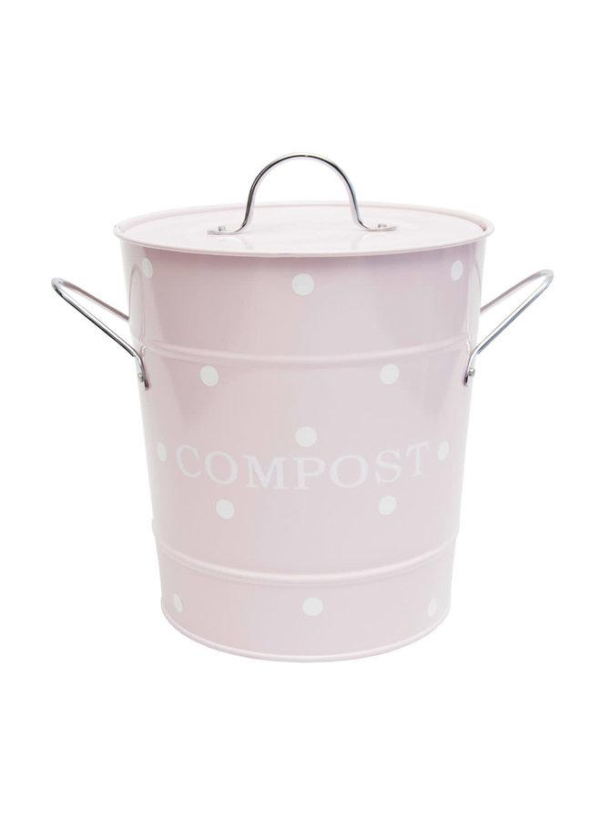"""Kompost Kübel """"Pink Dot"""" - 21x19cm"""