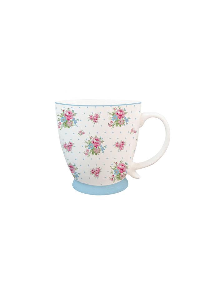 Kaffeetasse aus Porzellan - Roses blue