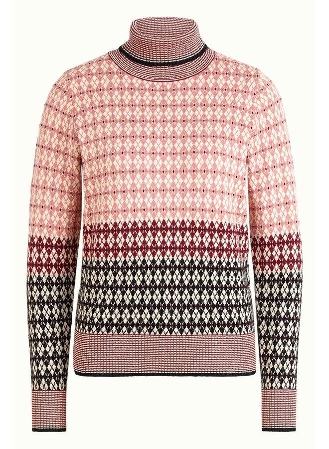 Rollkragenpulli - Rollneck Sweater Preppy - Dusty Rose