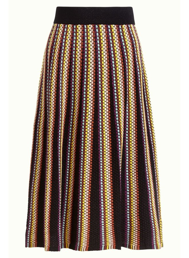 Rock - Stripe Skirt Bazaar - Black