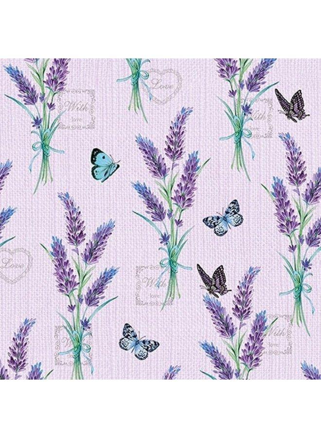 "Servietten ""Lavendelstrauss"" - 30x30cm - FSC"