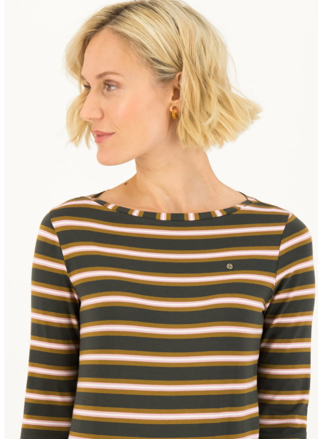 Longsleeve - logo striped longsleeve shirt - forest night stripes