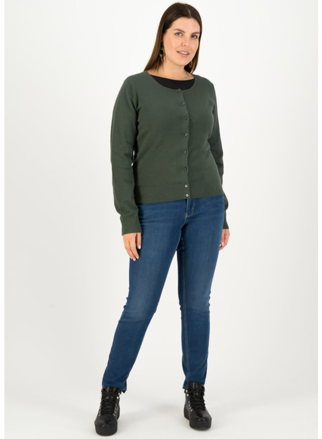 Cardigan - save the brave cardy - suited in thyme