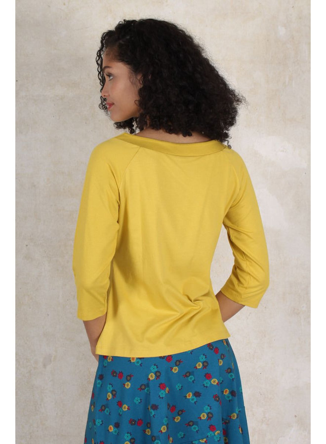 Shirt Zoa solid - amber