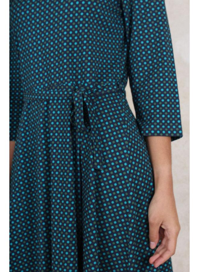 Kleid Charlene dots - midnight