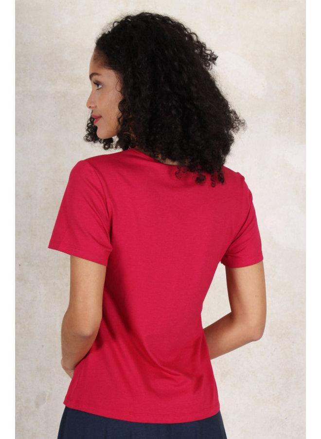 Shirt Philine solid - cerise