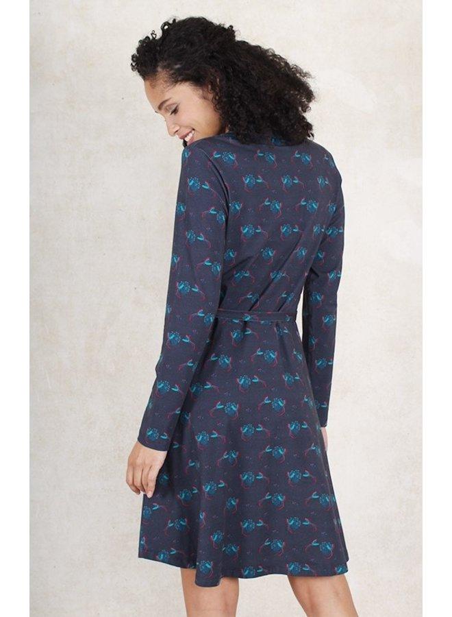 Kleid Susanne birds-midnight